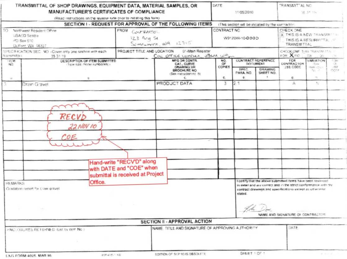 Usace Construction Forms Pictures to Pin PinsDaddy – Submittal Transmittal Form